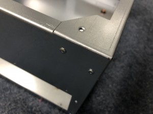 制御盤 筐体2 スポット溶接